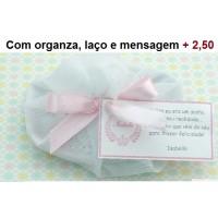 Com embalagem de Organza, laço e mensagem +R$2,50